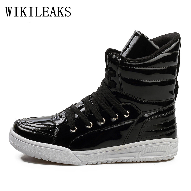 luxury brand fashion mens boots patent leather chelsea boots botines hombre  tenis masculino adulto mens shoes casual sneakers en Botina de Zapatos en  ... be24cb77cd91b