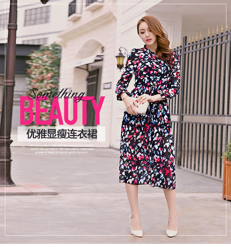 Kerrilado New Fashion Spring and Summer Female Petals One-Piece Dress Soft Cloth Longuet ...
