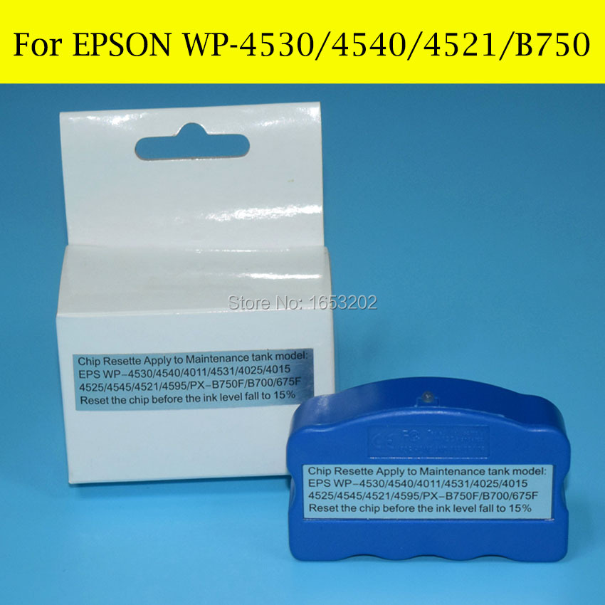 1 Piece T6710 T6711 Maintenance Tank Chip Resetter For EPSON WF-3620DWF WF-3640DTWF WF-7110DTW WF-7610DWF WF-7620DTWF Printer