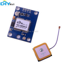 цена на DIYmall GPS Module with Flash GPS Active Ceramic Antenna for Arduino Raspberry Pi