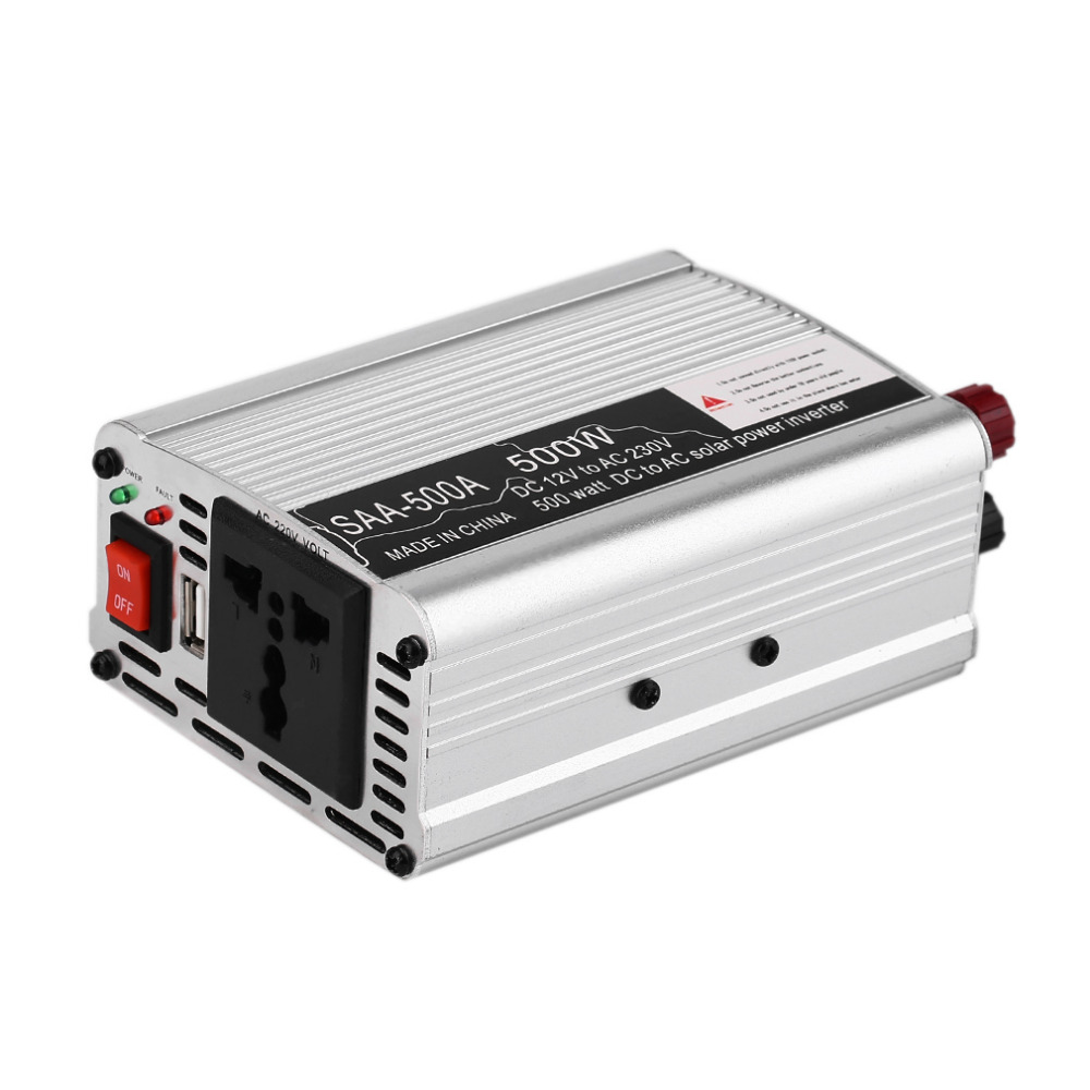 2018 New Car Inverter Vehicle Voltage Inversor DC12V To AC220V Power Inverter Adapter 300/400/500/600 Drop Shipping