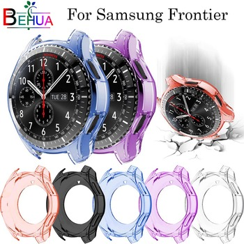 46mm watch case For samsung Gear S3 Frontier All-Around protective bumper shell replacement cover protective cover for samsung gear s3 frontier case tpu plated all around protective bumper shell smartwatch r760 cover frame