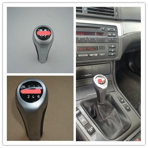 Para BMW 1 3 5 6 Series E30 E32 E34 E36 E38 E39 E46 E53 E60 E63 E83 E84 E90 E91 Novo 5 Velocidade 6 Engrenagem Speed Shift Knob Com Logotipo M
