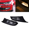 For Volkswagen POLO 2011 Car Styling LED Front Bumper Fog Lights Headlights Yellow Lamps Bulbs With Box Waterproof