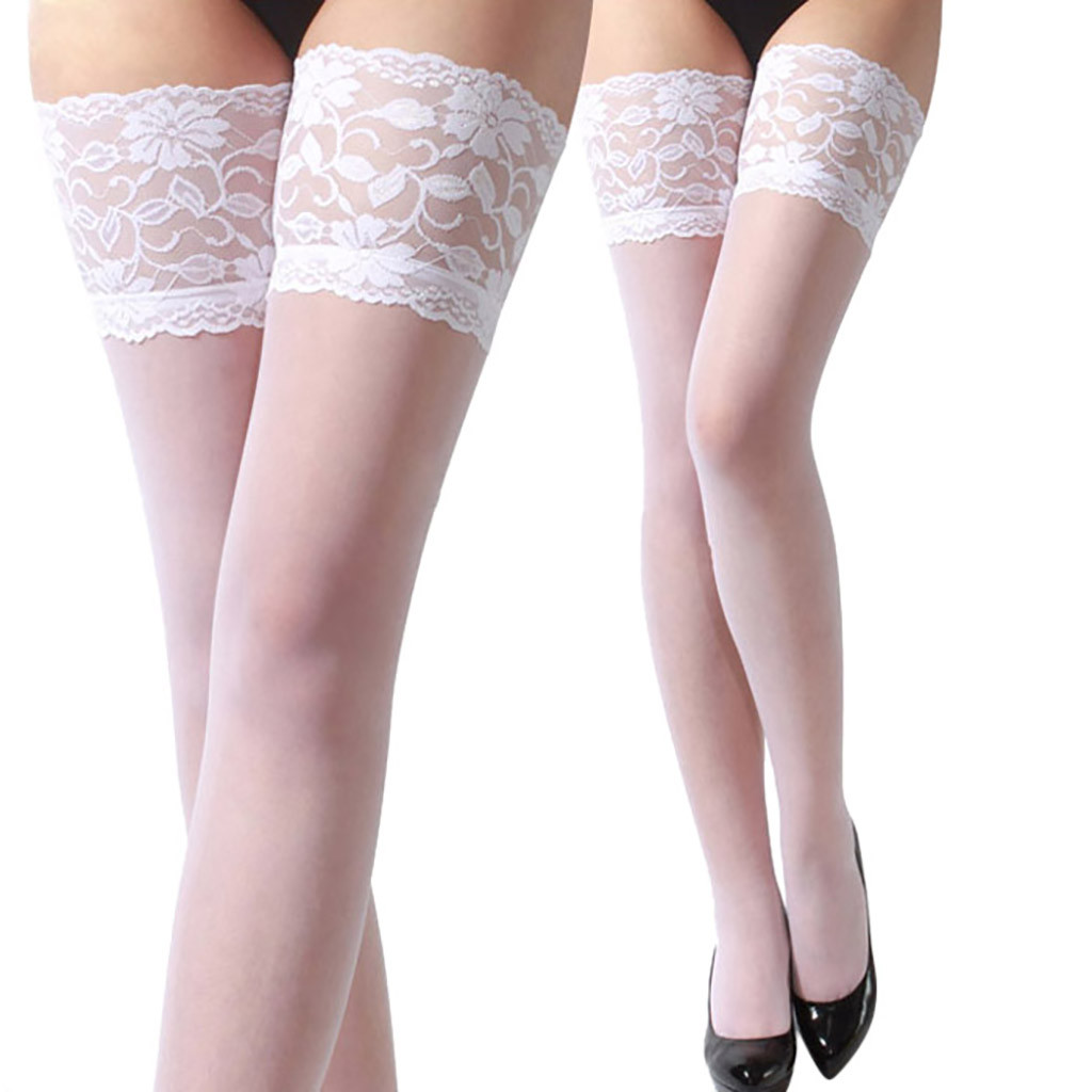 Ladies Lace Stockings Tops Slim Legs Long Stockings Banquet Sexy Fashion Lace High Quality Stockings 2019 Women Stockings Mujer