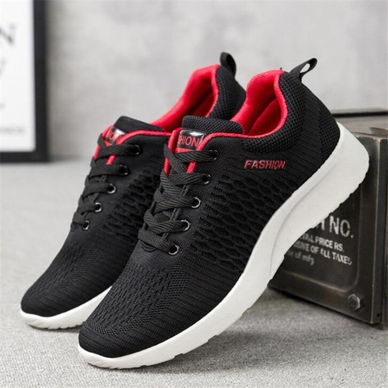 Oeak Men Shoes Walking-Sneakers Tenis Mesh Lightweight Comfortable New Feminino Lac-Up