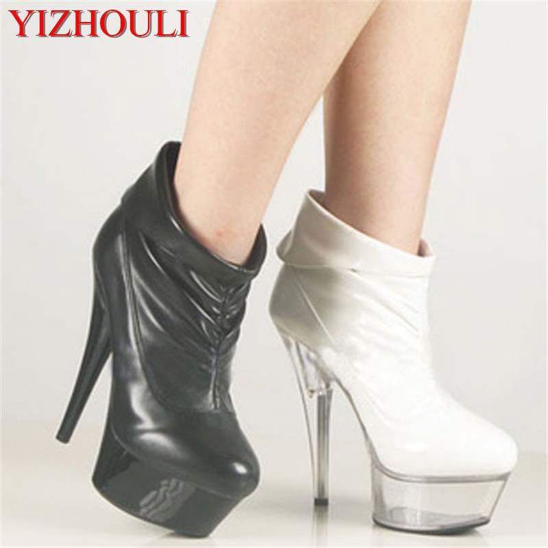 Sexy comfortable matte 15cm short-leg high-heeled shoes sexy boots 6 inch classic short boots club heels for women sizeSexy comfortable matte 15cm short-leg high-heeled shoes sexy boots 6 inch classic short boots club heels for women size
