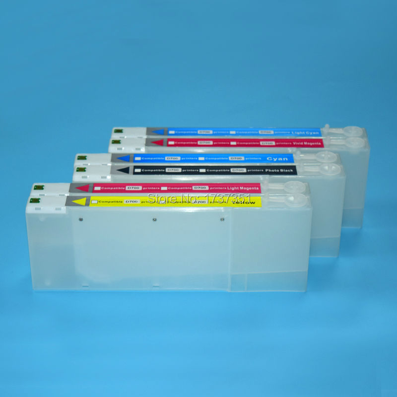 boma.ltd 6 Color 280ml refill ink cartridge with one time chip for FUJI DX100 printer Empty 6 colors cmyklclm one time chip for mimaki jv33 sb51 cartridge
