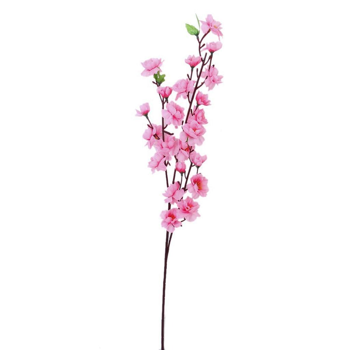 6st persika blomma simulering blommor konstgjorda blommor siden - Semester och fester - Foto 4
