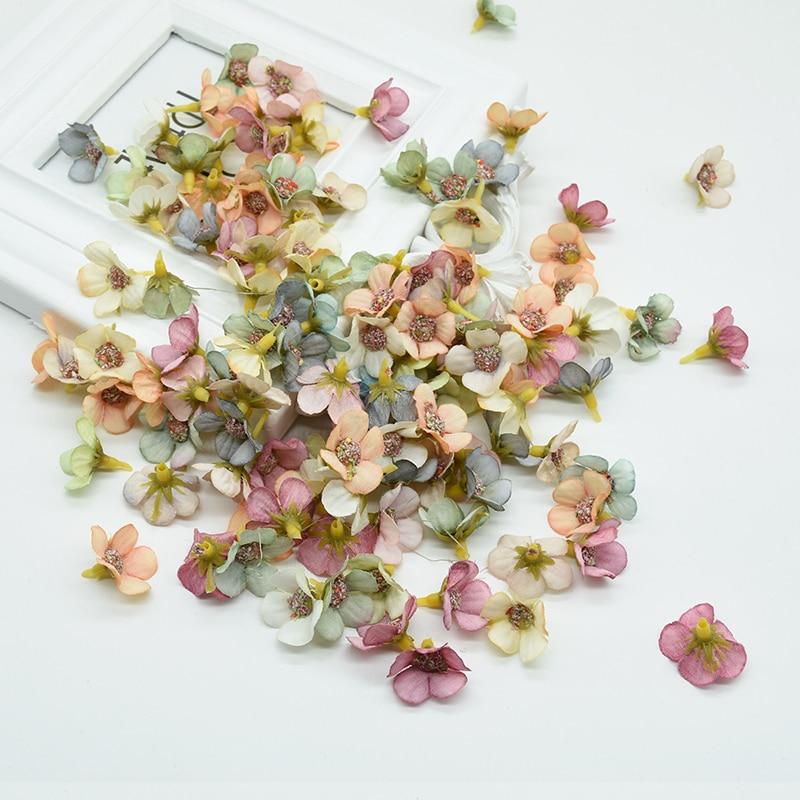 50pcs MINI Silk Daisy Multicolor Fake Artificial Flower For Christmas And Home Decor 1