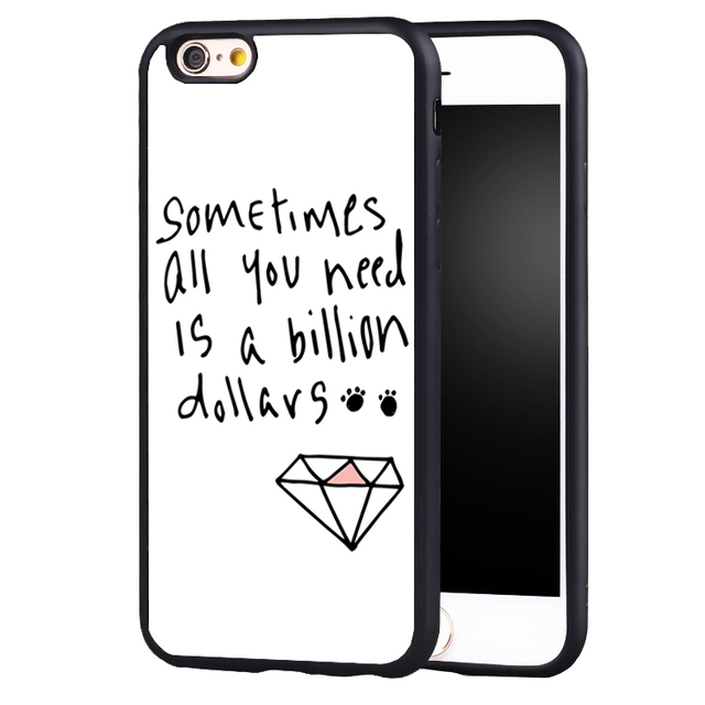new arrival b3818 78b39 US $4.99 |billion dollars diamond quote phone case cover for iphone 7 7plus  6 6splus 5 5s 5c SE-in Fitted Cases from Cellphones & Telecommunications ...