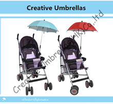 Baby stroller steering umbrella,children car umbrella 8mm steel shaft & fiberglass ribs,detachable clamp,Environment protection