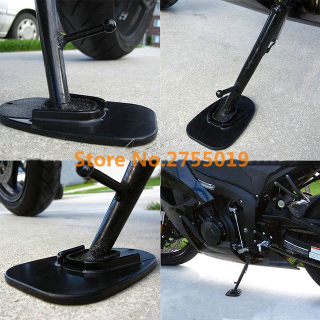 5pcs/lot Universal Motorcycle Black Kickstand Side Stand Plate Pad mat Base Holder Mat for & 5pcs/lot Universal Motorcycle Black Kickstand Side Stand Plate Pad ...