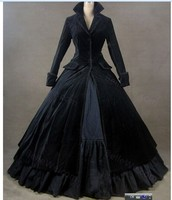 Brand high end Elegant women Vintage Gothic Victorian Dress lolita cosplay custom made