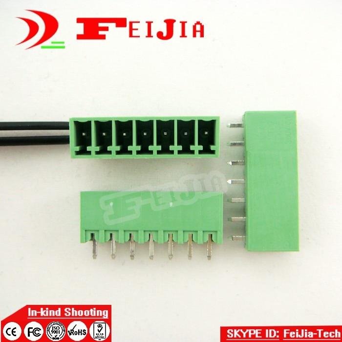 (50pcs/lot) 15EDG-3.5-7P Straight Pin PCB Screw Terminal Block Connector 3.5mm Pitch 7 Pins Plug in 1804849[pluggable terminal blocks 7 pos 7 62mm pitch through mr li