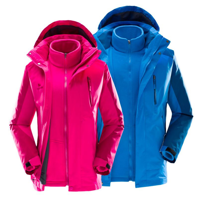 ФОТО Hiking Jackets windbreaker Autumn and winter Jackets for unsex Two - piece removable large size outdoor climbing waterproof