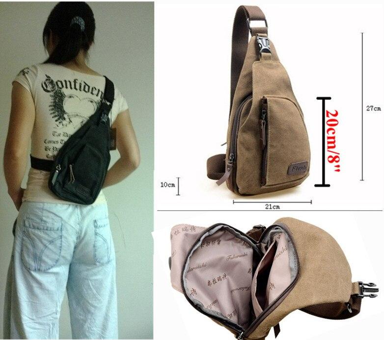 Aliexpress.com : Buy Men's Canvas Unbalance Backpack Women's ...