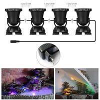 DONWEI 4pcs RGB 36 LED Underwater Spot Light Highly Waterproofing IP68 Underwater Light Tank Aquarium Landscape Lights