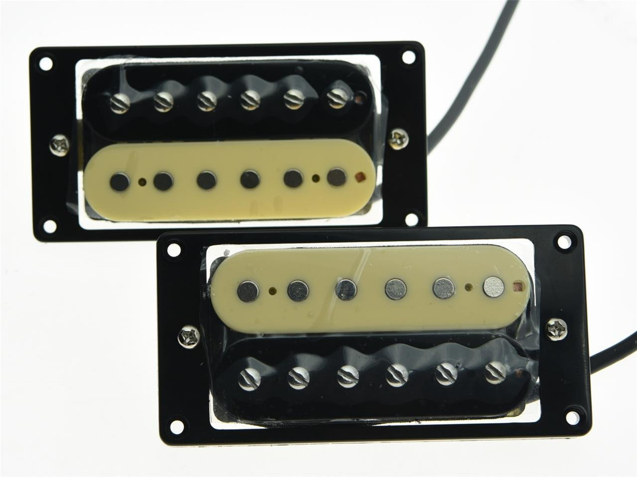 High quality 2x Zebra Alnico V 50's Vintage Sound Humbucker Neck/Bridge Pickup Guitar Pickups belcat electric guitar pickups humbucker alnico 5 humbucking bridge neck chrome double coil pickup guitar parts accessories