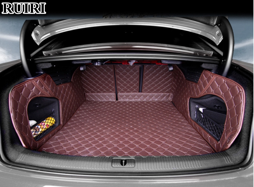 Good quality! Full set car trunk mats for Audi A5 Sportback 2017 durable cargo liner mat boot carpets for A5 2018,Free shipping