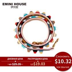 EMINI جلد طبيعي الكتف حزام الملونة الاكريليك النساء حقيبة حزام 89 سنتيمتر * 4 سنتيمتر