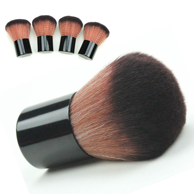 Mayitr 1pcs New Soft Fiber Powder Makeup Round Brush Professional Kabuki Cosmetic Blush Brush Beauty Tool For Makeup