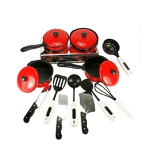 GEEK KING 13pcs High Quality Set Kitchen Cooking Toy Children DIY Pretend Role Play Kids Educational Toys