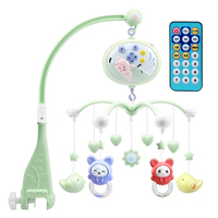 Newborn Cute Bell With Projector Kid Educational Baby Mobile Music Box Rotate Remote Control Crib Rattle Toy Bed Infant