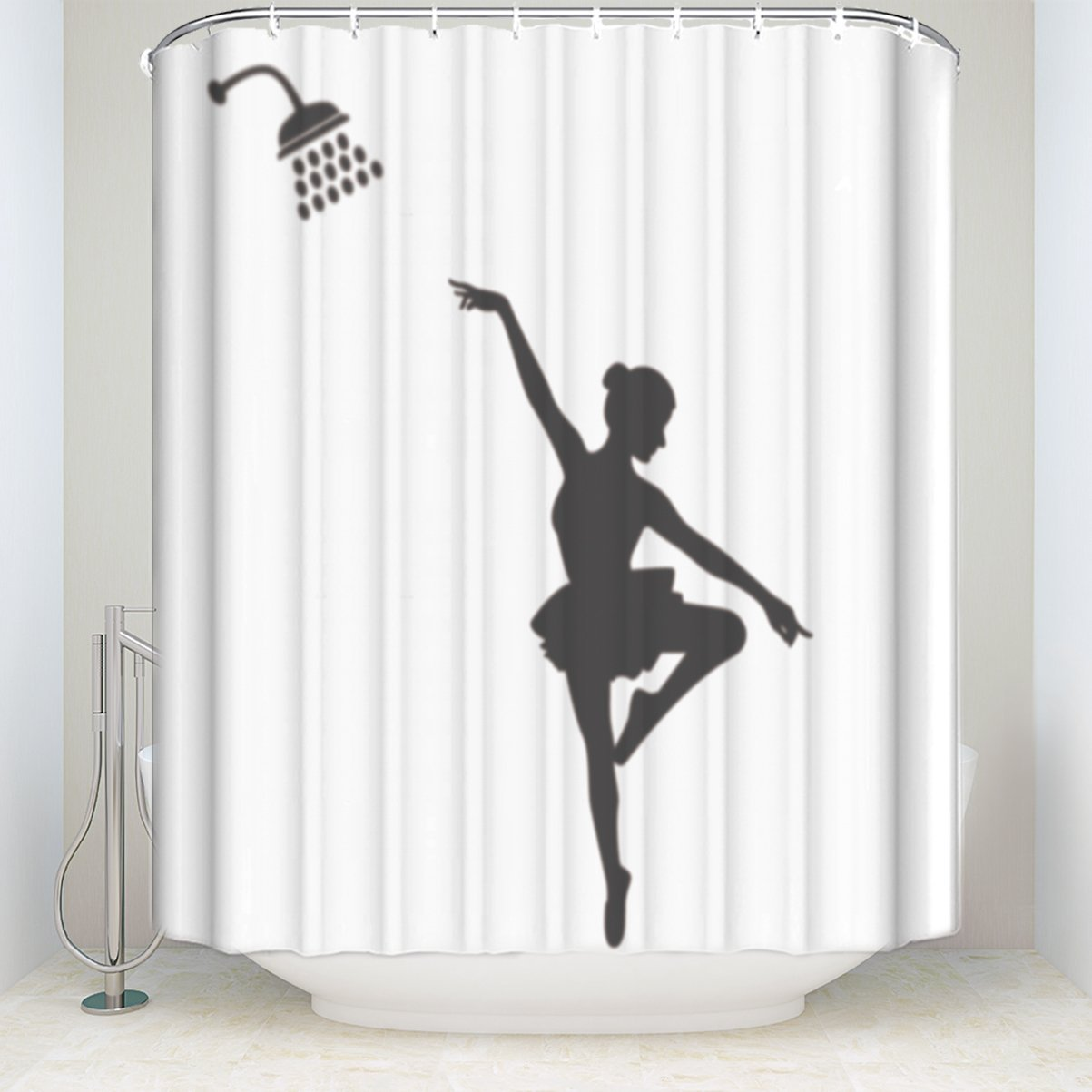 Ballet Dancer Theme Shower Curtains Insipidity Durable And 100 Waterproof By Pretty Lee In From Home Garden On Aliexpress