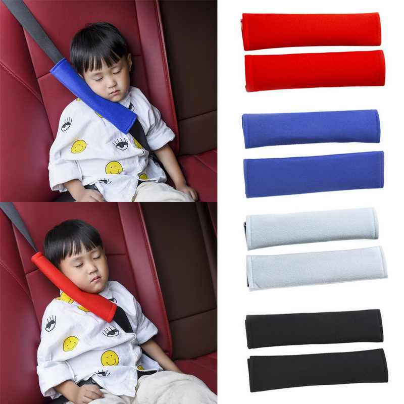 TOSPRA Auto Child Safety Belt Comfortable Auto Car Safety Belt Covers Pillow Protection Shoulder Cushion Pads Car-styling 2pcs