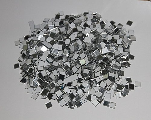 Customized 500pcs Of 1*1cm Mosaic Square Mirror Sticker With Back Tape, Black