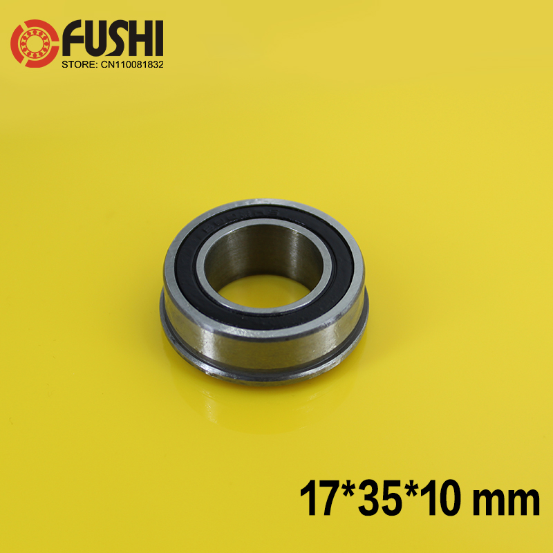 F6003-2RS Wheelbarrow Bearing 17x35x10mm ( 1 Pc ) Garden Trolley Ball Bearings With Flanged frap f6003