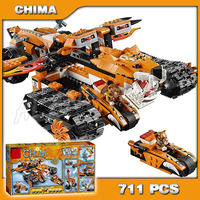 711pcs Tiger's Mobile Command amazing Walking Tank 10357 Model Building Blocks Assemble Toys Gifts For Boys Compatible with Lego