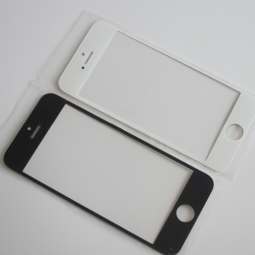 Front Outer Glass Lens Replacement Parts For IPhone 5 5S 4 4S 6 6S Plus Touchscreen Repair 3m Sticker