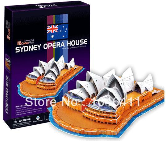 Sudney Opera House CubicFun 3D educational puzzle Paper & EPS Model Papercraft Home Adornment for christmas gift petronas towers cubicfun 3d educational puzzle paper
