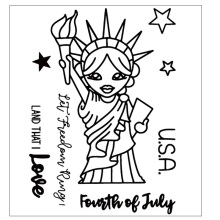 USA Statue of Liberty Silicone Clear Stamps/Seal For DIY Scrapbooking Decorative Card Making Craft Fun Decoration Supplies