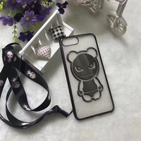 Luxury Soft Silicone Transparent TPU Cute Bear Mobile Phone Housing For IPhone7 7Plus 6 6S 6Plus