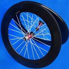 Flyxii новое полный углерода довод колесная 700C дорожный велосипед в 88 мм велосипедное колесо( белый спицы+ красный центр