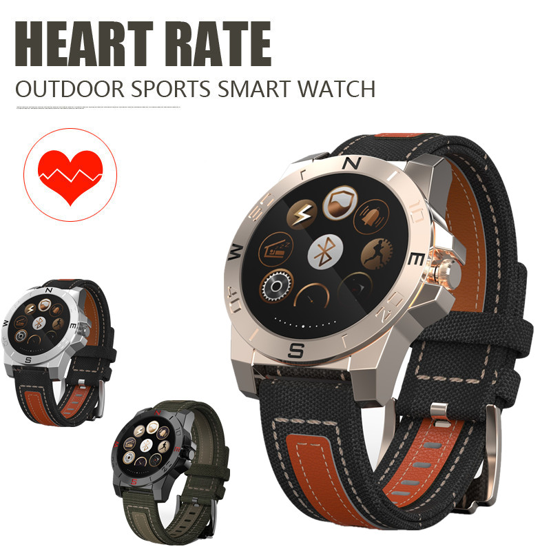 N10B Smart Watch Camp Outdoor Sports Style Smartwatch Heart Rate Monitor Compass Waterproof Bluetooth Wach for IOS and Android