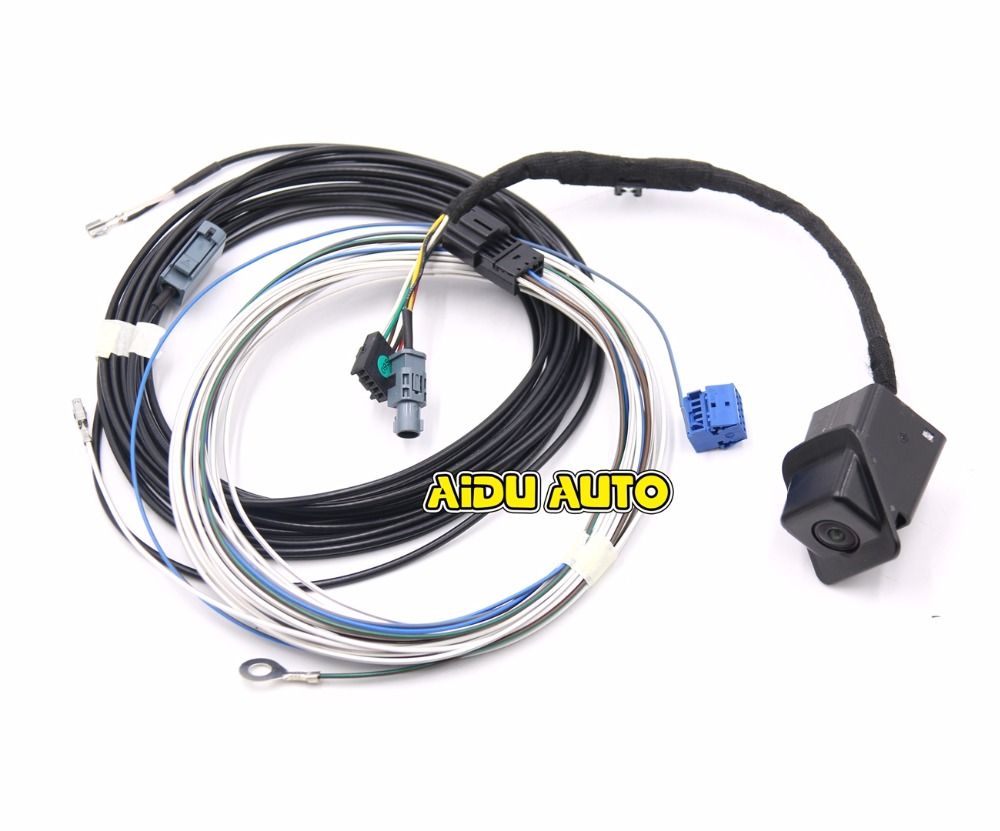 Oem Rear View Camera Reversing Logo Cable Wire Harness For Vw Wiring Aiduauto Scirocco Rcd330 187a 187 B Plus Mib Radio Low