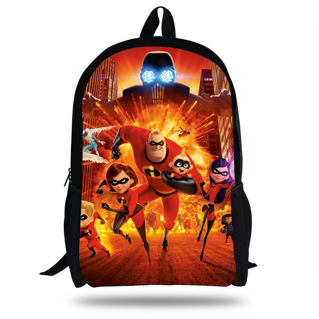 9a1ecd3a5d8a 16inch New Style Cartoon Bag For Children Boys Girls The incredibles  Backpack For Kids Teen Bags For School