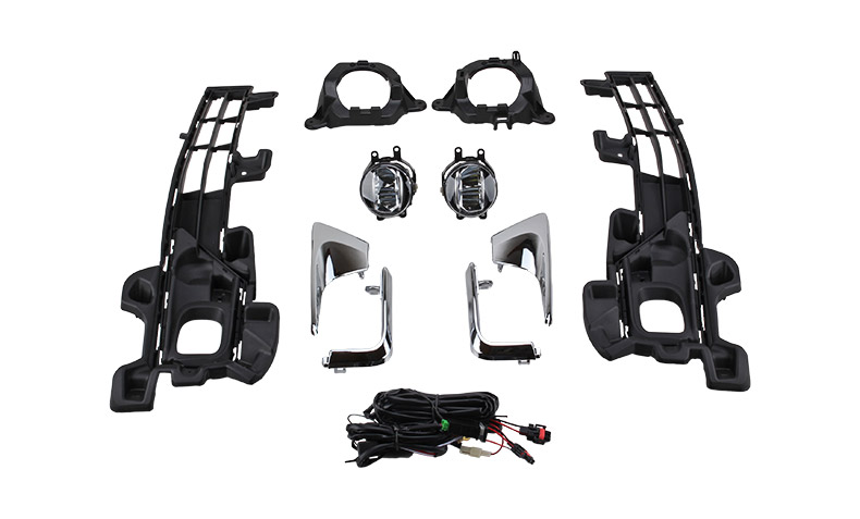 Car Front Fog Spot Driving Light Assembly Kit For Toyota
