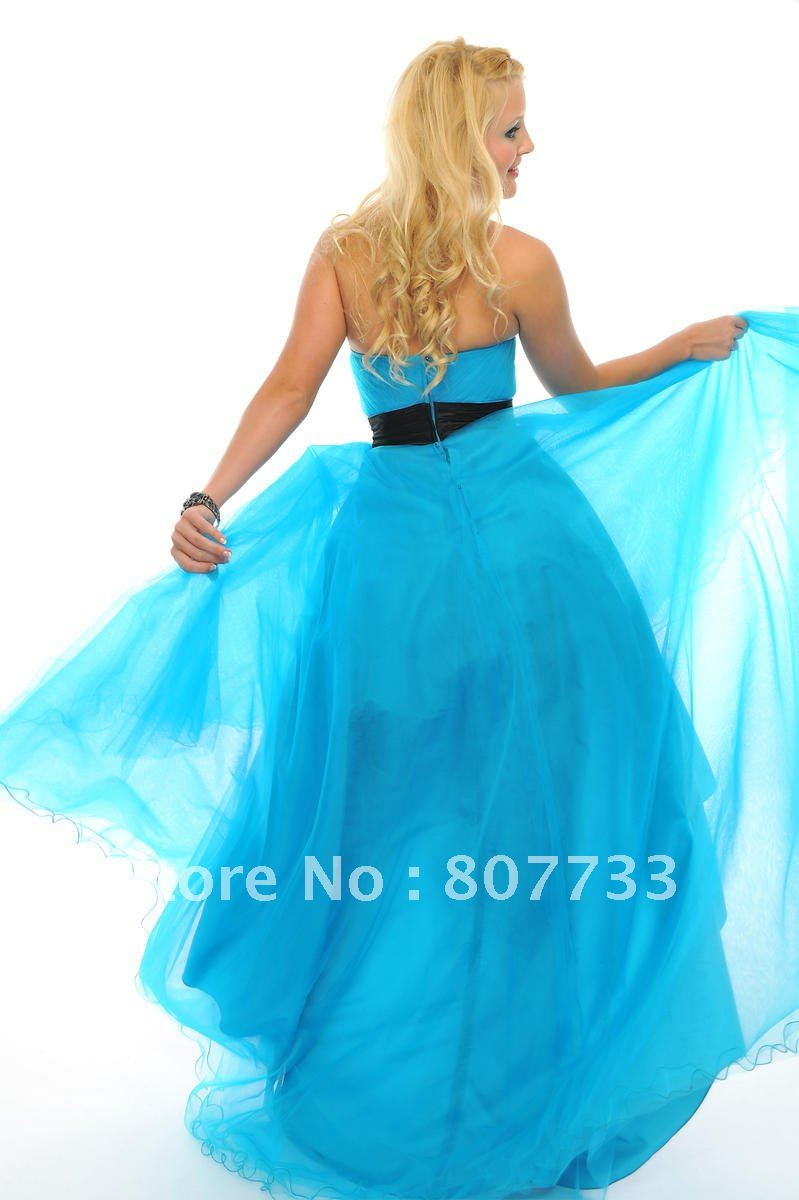 Free shipping cost wholesale sweetheart light blue organza short ...