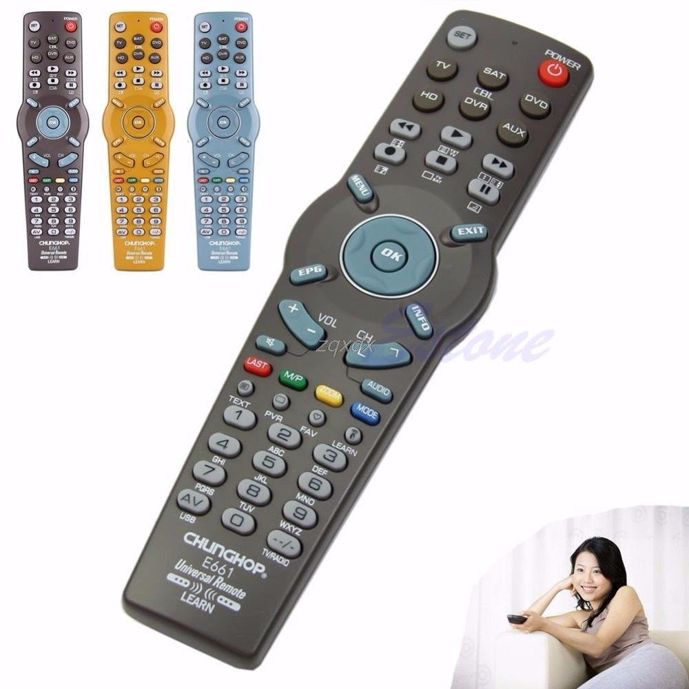 6in1 Learning Universal Remote Control Controller For TV CBL DVD AUX SAT AUD New Z09 Drop ship sexism in tv adverts