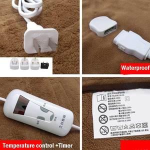 Image 3 - Tapis électrique pour couverture électrique, tapis chauffant automatique, imperméable, 4 vitesses, minuterie, 220V
