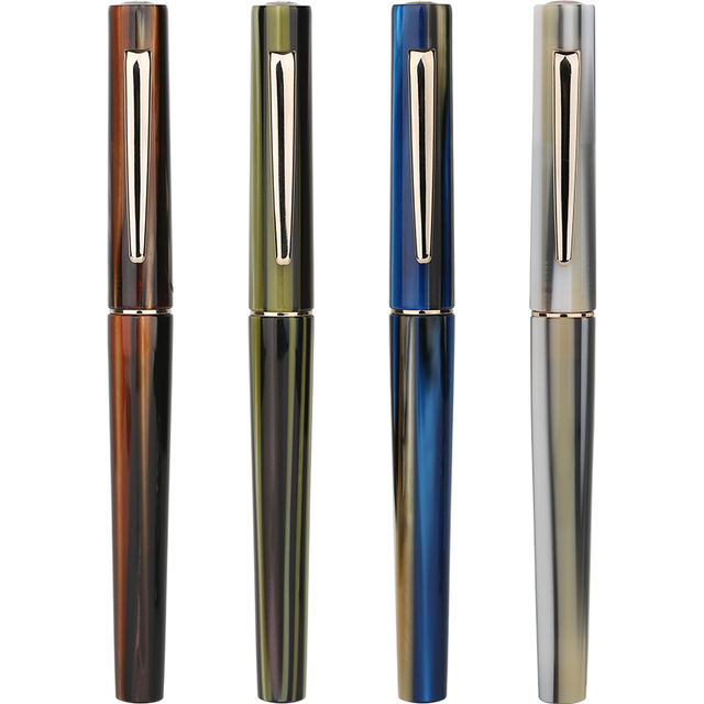 Перьевая ручка Moonman N3 Celluloid, акриловая ручка с красивыми полосками, перьевая ручка Iridium EF/F, Отличная офисная ручка для письма, подарочная ручка с чернилами