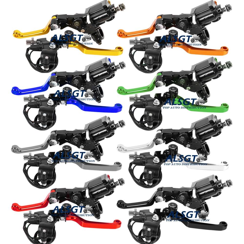 8 цветов ЧПУ универсальный Для Kawasaki КХ 85 2001 - 2013 2002 2003 2004 Мотокросс тормоза сцепления главный цилиндр водохранилище рычаги
