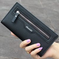 Casual Fashion Women Wallets Candy Colors Coin Purse Simulation Of Leather Lichee Pattern Male Card Holder