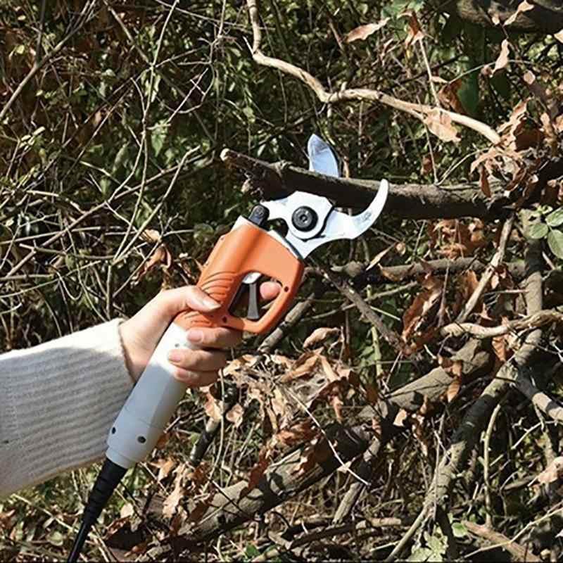 450 W Elétrica Pruner Tesouras Elétricas para a Árvore de Fruta Jardim Tesoura de Poda Elétrica De Cisalhamento 36 V 4400 mah Bateria De Lítio pomar
