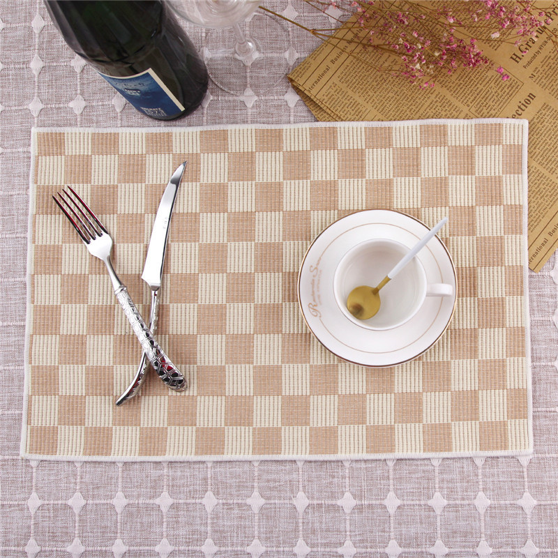 MORGIANA 4Pcs Placemat Fashion Pvc Dining Table Mat Disc Pads Bowl Pad Coasters Waterproof Table Plastic Pad Slip-Resistant Pad